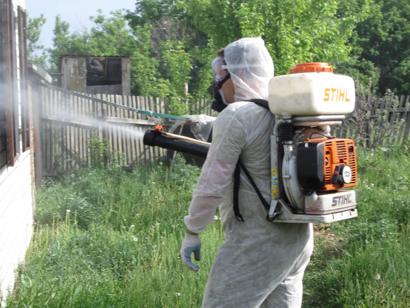 Обработать участок от комаров 135